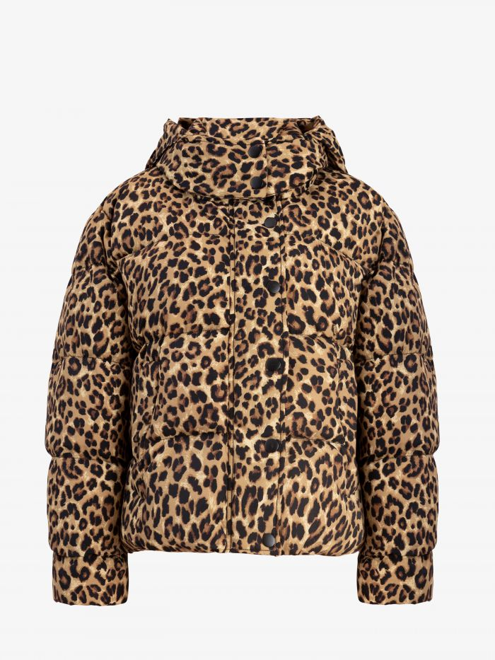 LEOPARD CROP COAT