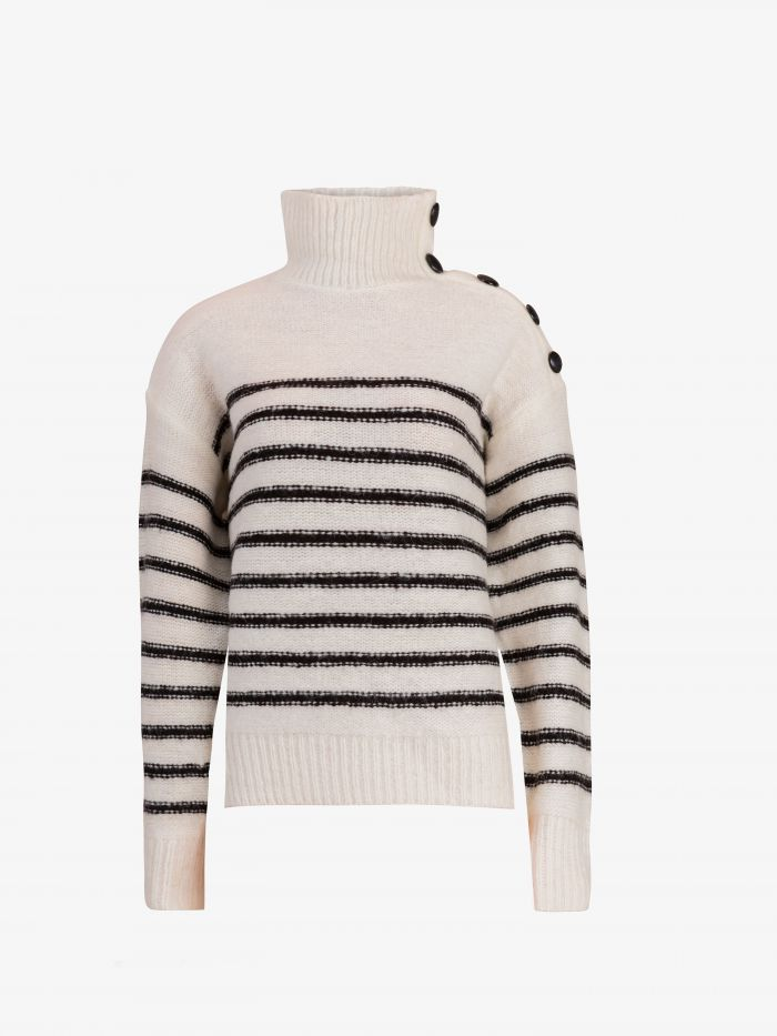 STRIPES HIGH NECK