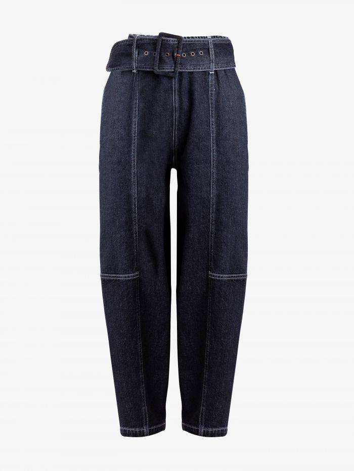 BELTED CROPPED STRAIGHT LEG