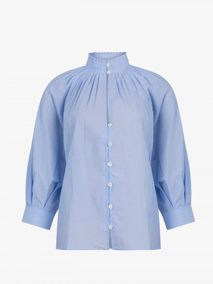 BUTTONED SHORT SLEEVES