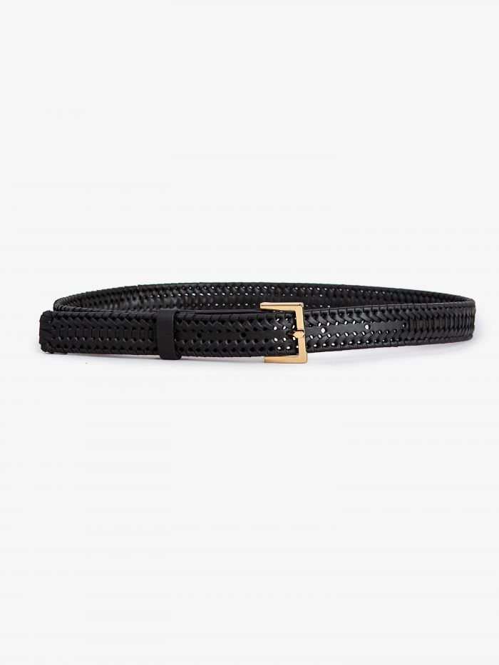 SQUARE BUCKLE BRAIDED BEL