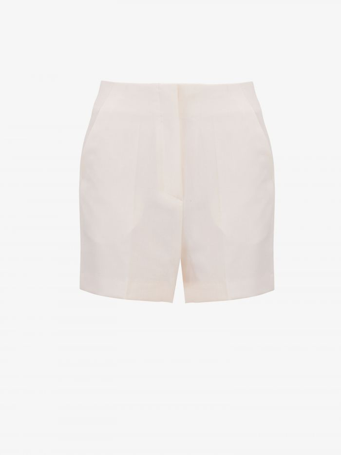 HIGH WAISTED SUIT SHORTS